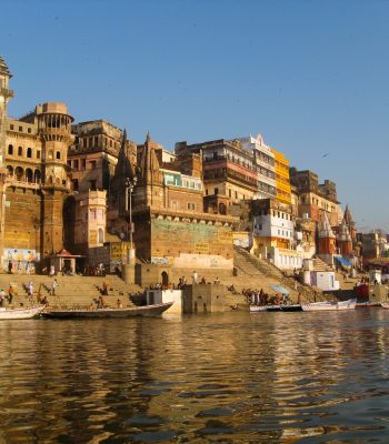 Dawn on the Riverside in Varanasi on an India Tour