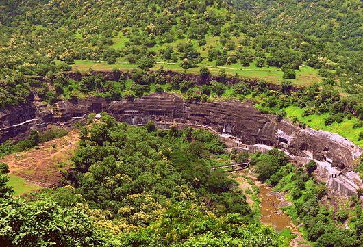 Ajanta Caves near Aurangabad on an India Tour