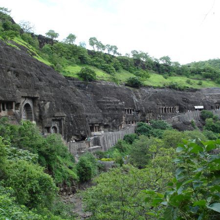 Ajanta Caves near Aurangabad on an India Tour