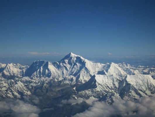 Kathmandu Mount Everest as seen from Drukair on a Nepal and India Tour