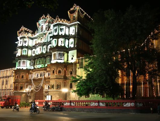 Rajwada in Indore during Diwali on a India Tour