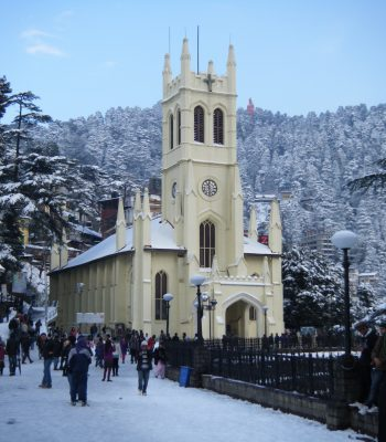 St. Michael's Catholic Church in Shimla on a India Tour