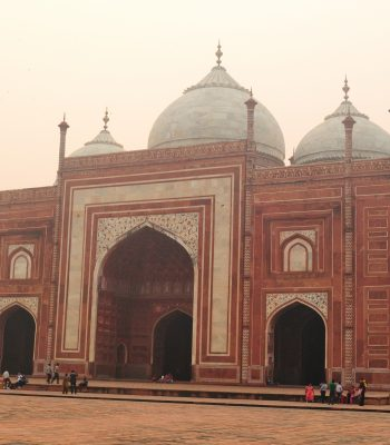 Agra Taj Mahal West on a Gate Golden Triangle India Tour
