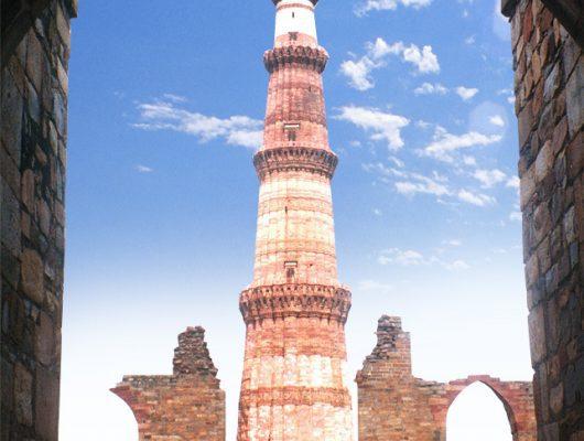 Qutub Minar in Delhi on an India Tour