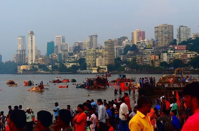 India Tours - Mumbai Skyline During Festival
