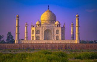 Taj Mahal Agra India At Sunset
