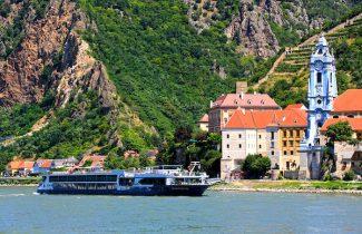 Avalon River Cruise Visionary Exterior Austria Danube Durnstein Wachau Einhard