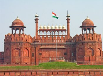 Outside Red Fort During Day Delhi India Tour