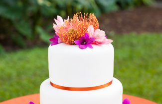 Indian Destination Wedding - 2 Tier Cake