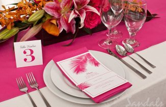 Sikh Destination Wedding - Dinner Setting