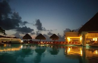 South Asian Destination Weddings Moon Palace Pool at Night