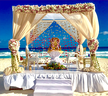 Indian Destination Wedding - Royalton Resorts - Upgraded Ceremony Structure