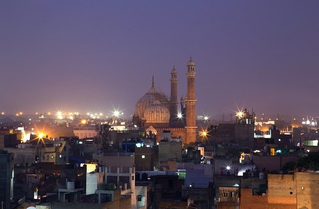 Jama Masjid - Great Mosque of Old Delhi - Night - India Tour