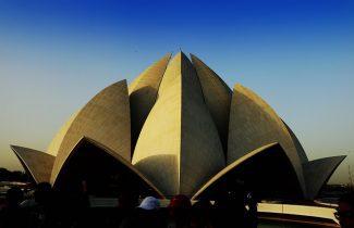 India Tour - New Delhi - Lotus Temple at Dusk