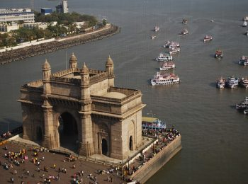India Tour - Bombay - Gateway of India - with Harbour